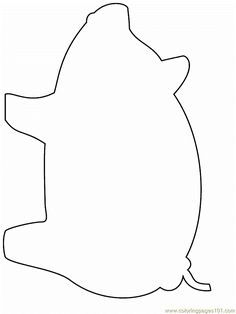 236x314 Pig Outline Clip Art