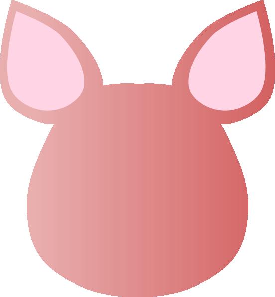 552x595 Totetude Blank Pig Face Clip Art