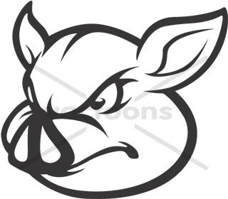 320x280 Wild Pig Hog Outline Icon Logo