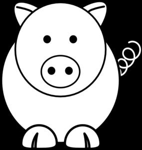 285x300 Cartoon Pig Clip Art