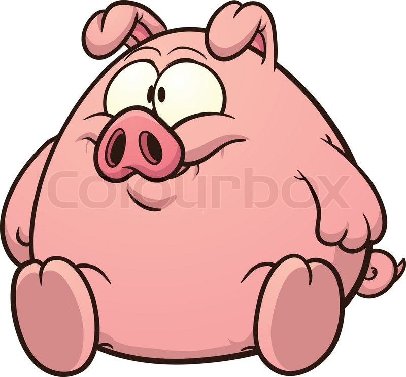 800x744 Fat Pig Clip Art. Vector Cartoon Illustration With Simple