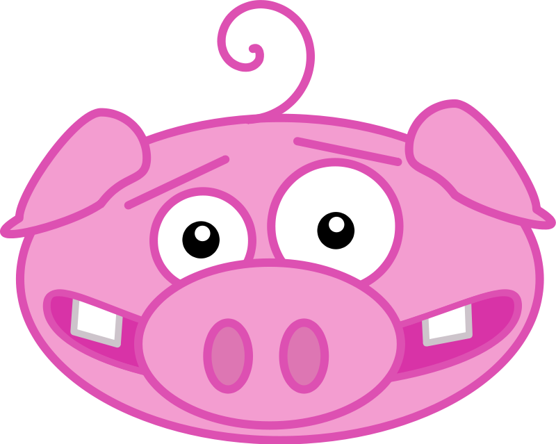 800x639 Free Funny Pig Face Clip Art