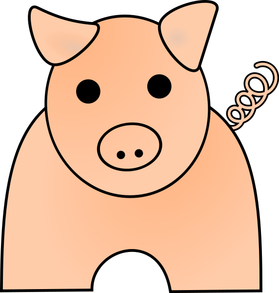 572x600 Free Pink Pig Clipart, 1 Page Of Public Domain Clip Art