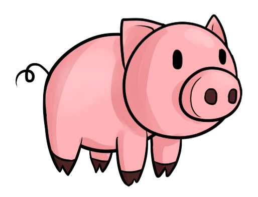514x393 Animated Pig Clipart