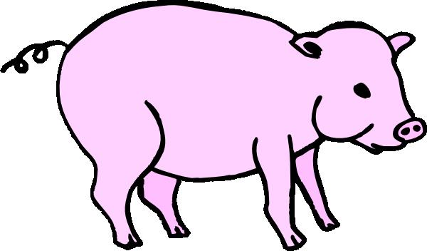 600x352 Pink Pig Clip Art