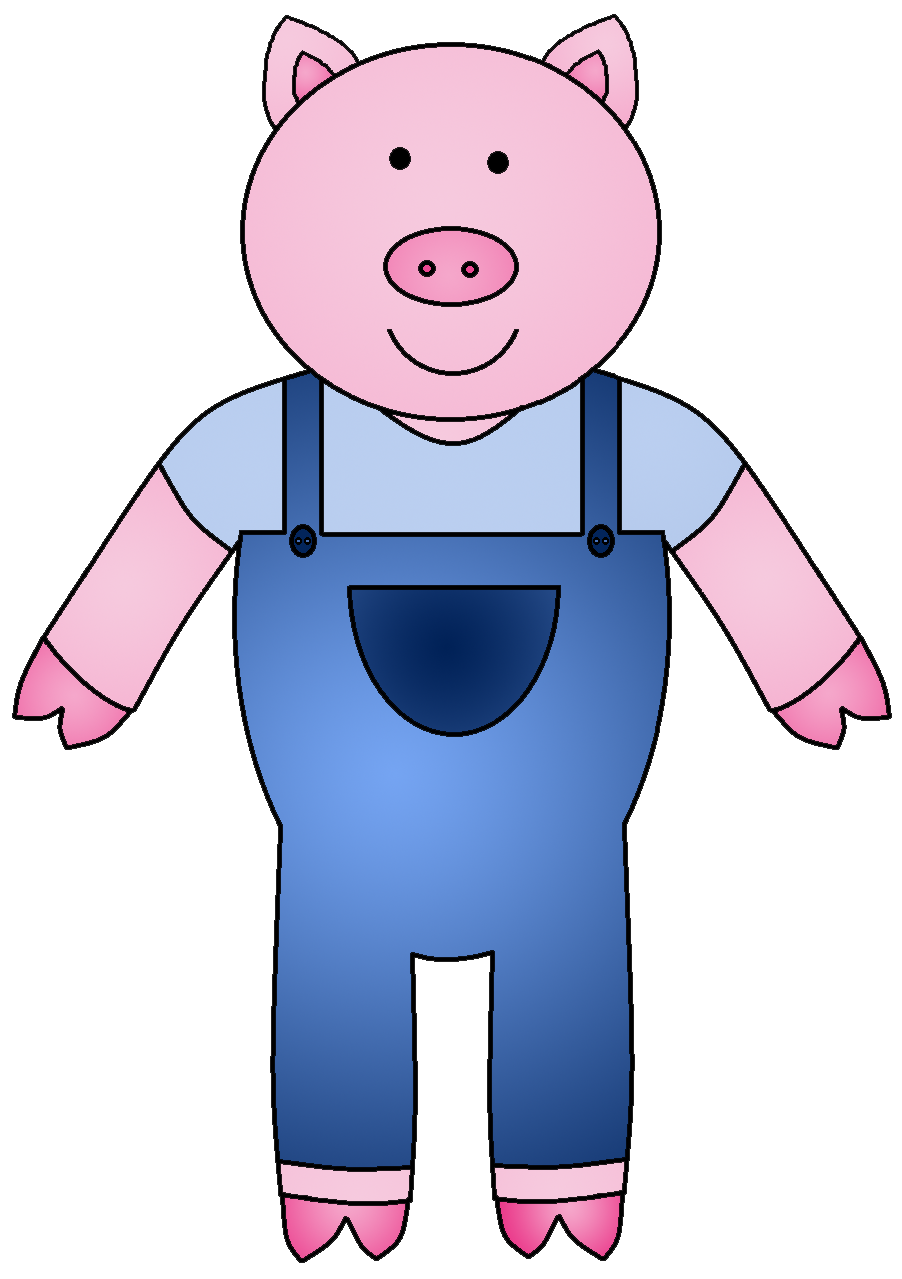 902x1279 Clip Art Three Pigs Clipart