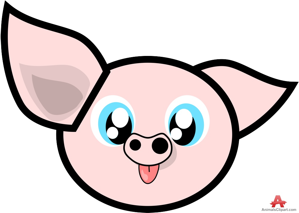 999x712 Cute Pig Clipart Face Free Design Download