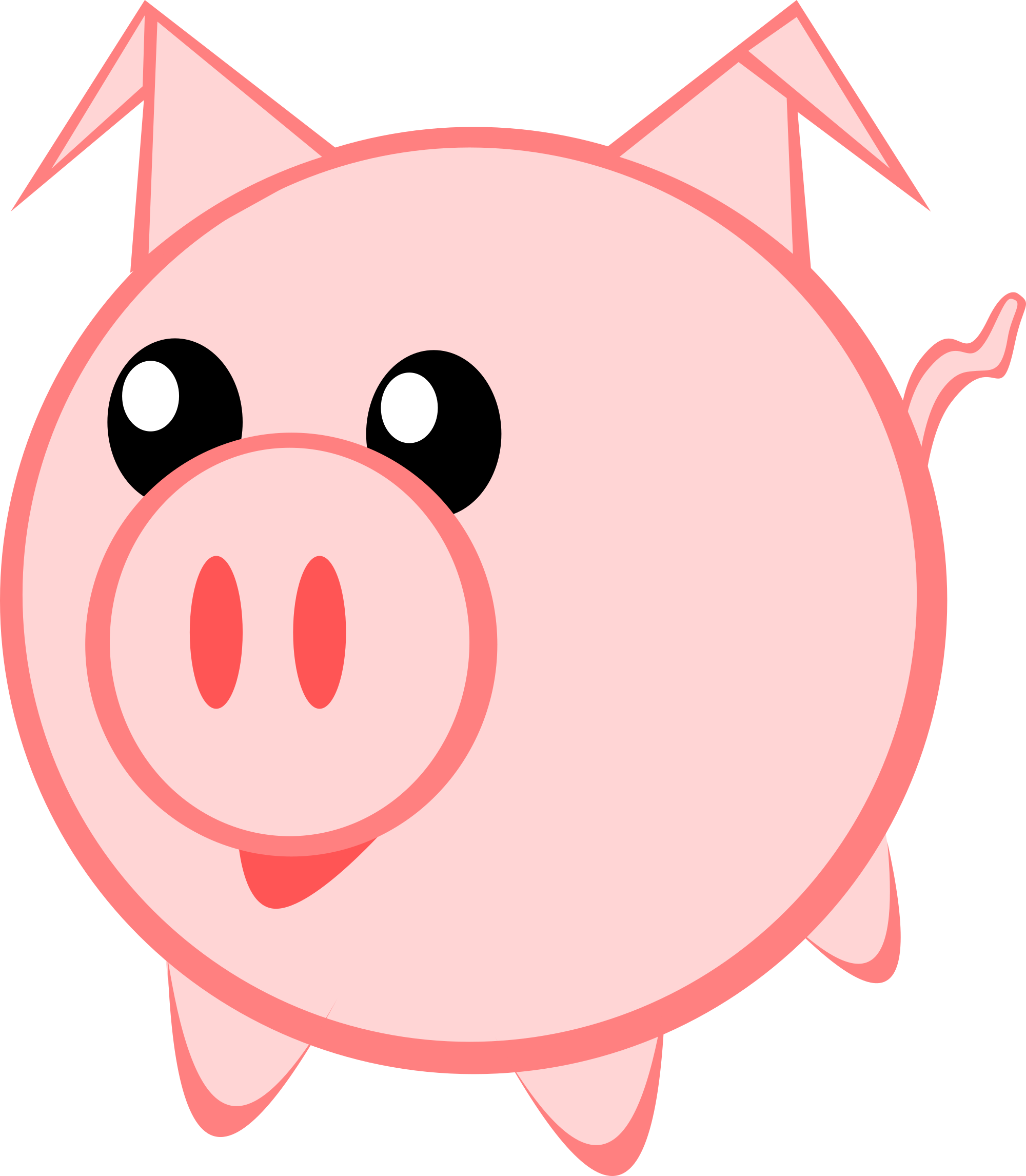 2000x2292 Face Pig Clipart Pig Animal Clip Art Downloadclipart Org