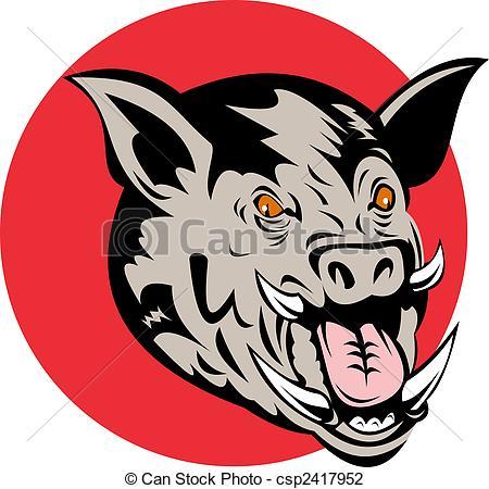 450x450 Hog Head Clip Art Clipart