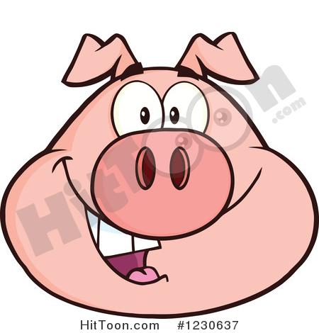 450x470 Pig Face Clipart