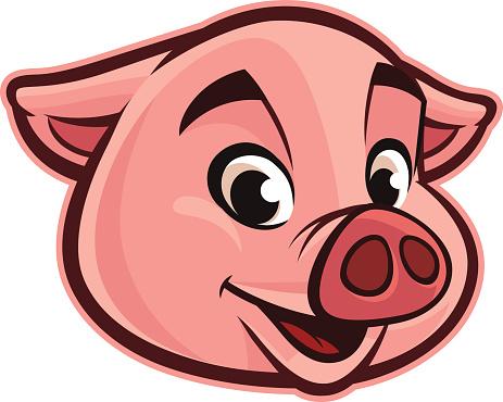 463x370 Pig Head Clipart