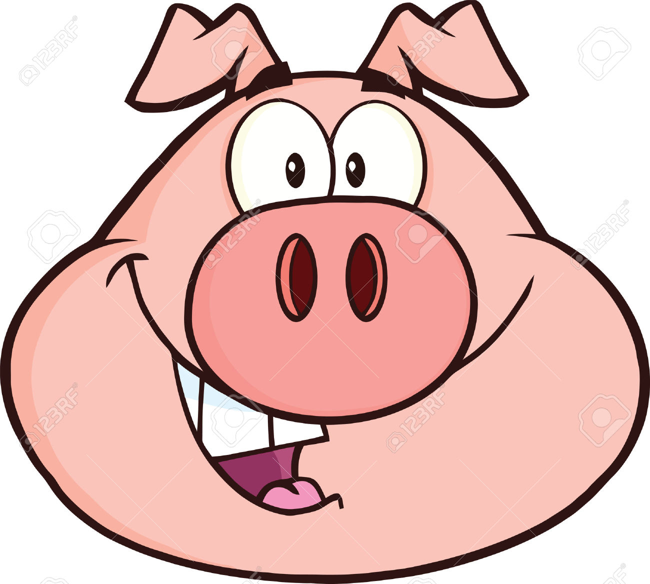 1300x1168 Pork Clipart Pig Head