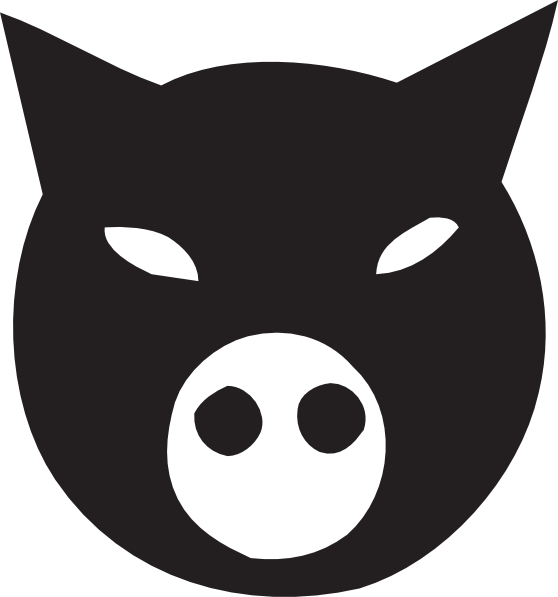 558x597 Black Pig Face Clip Art