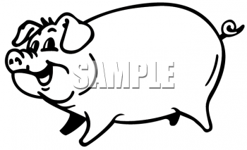 350x213 Royalty Free Pig Clip Art, Farm Animal Clipart
