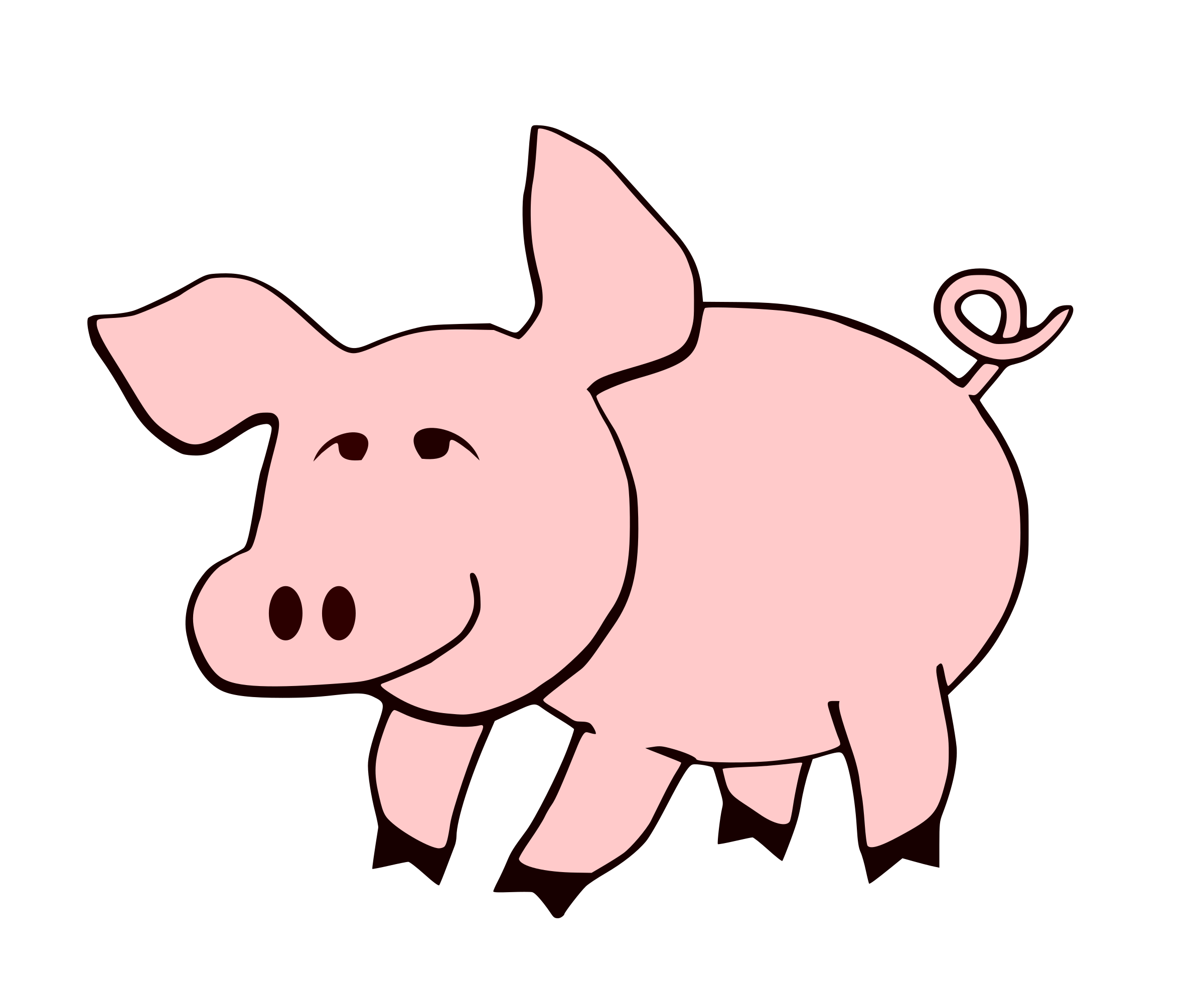 2400x2000 Tail Clipart Pig Tail