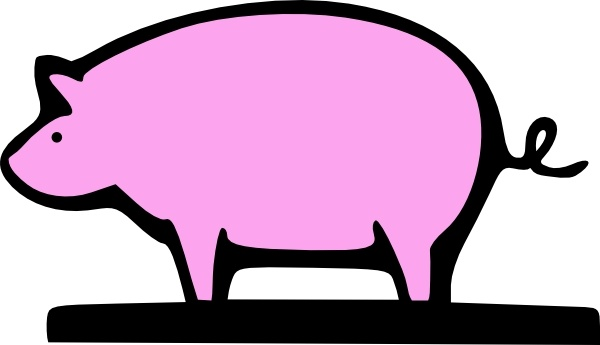 600x345 Farming Pig Animal Clip Art Free Vector In Open Office Drawing Svg