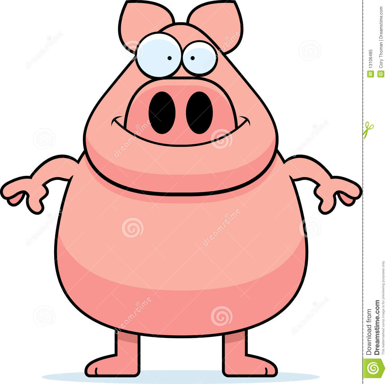 1316x1300 Animated Pig Clipart