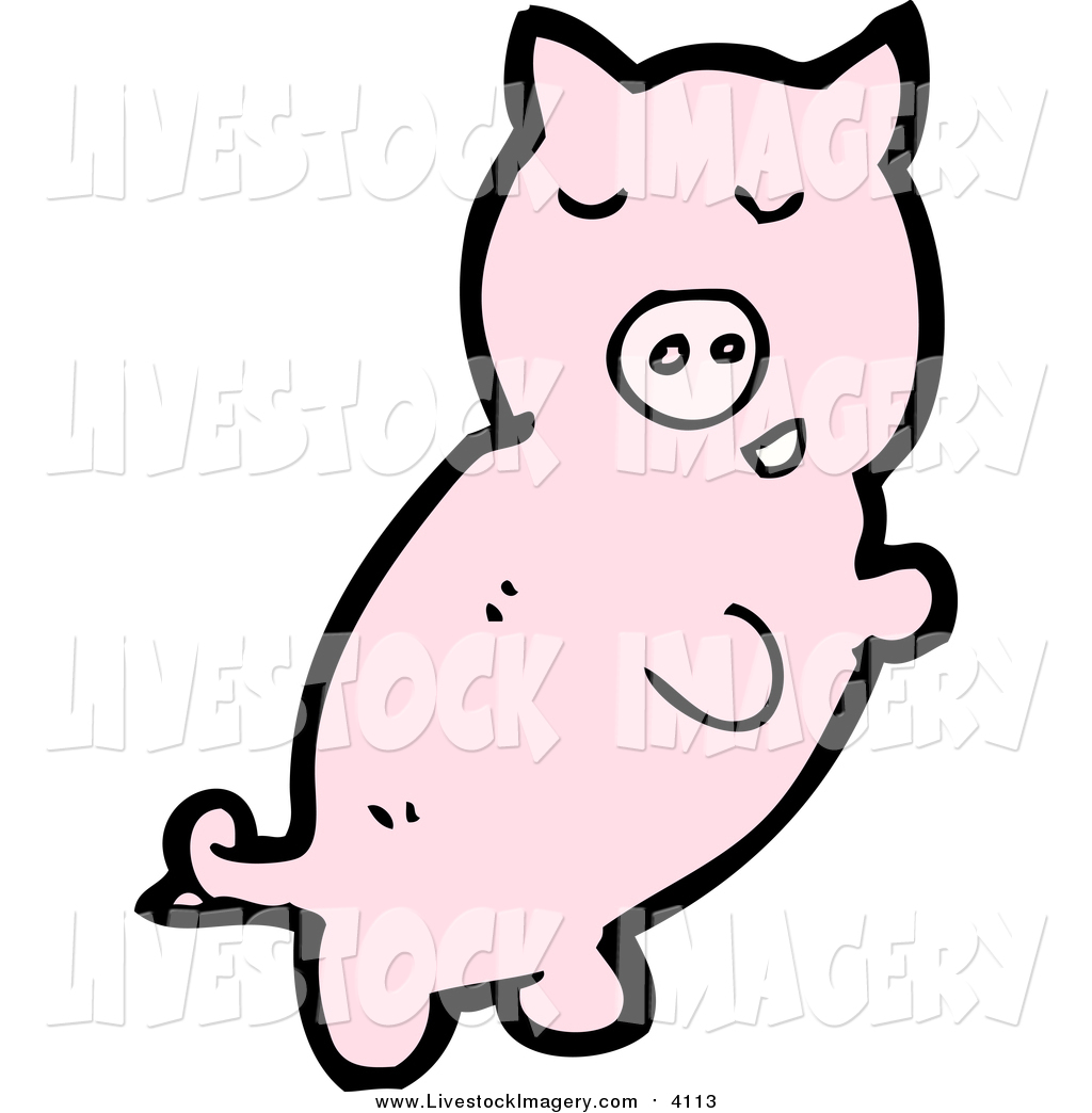 1024x1044 Clip Art Of A Pink Pig By Lineartestpilot