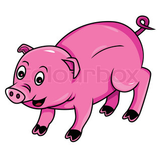 320x296 Cute Little Muddy Pink Cartoon Piglet Or Pig With A Happy Grin