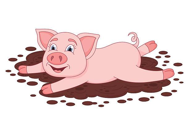612x434 Mud Clipart Cute Pig