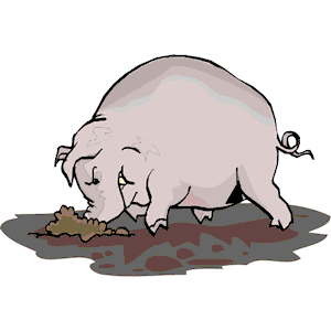 300x300 Pig Digging In Mud Clipart, Cliparts Of Pig Digging In Mud Free