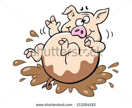 450x368 Pig Rolling In Mud Clipart