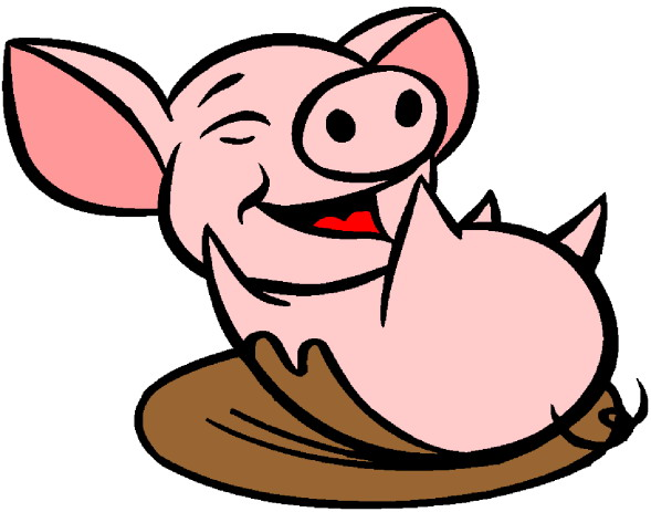 589x463 Pig In Mud Clipart
