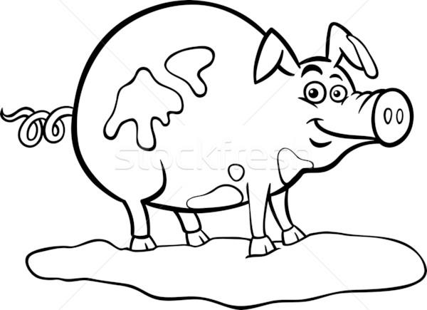 600x435 Farm Pig Cartoon For Coloring Book Vector Illustration Igor