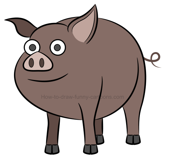 546x516 To Draw An Illustration Of A Pig