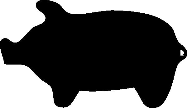 600x348 Pig Outline Clip Art