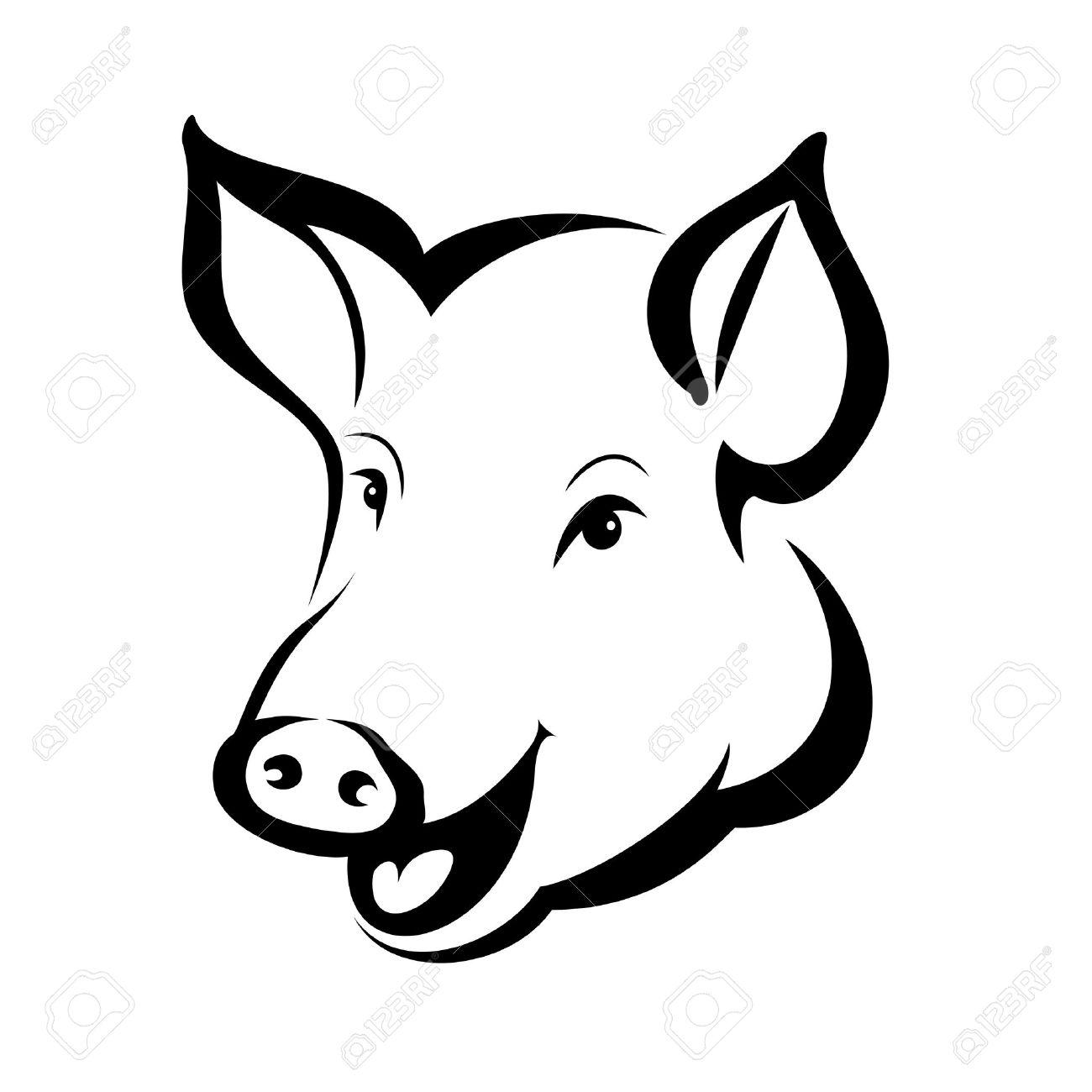 1300x1300 Pork Clipart Happy Pig