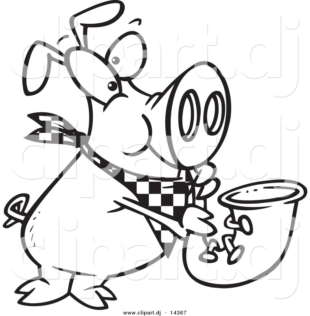 1024x1044 Vector Of Cartoon Pig Playing A Saxophone