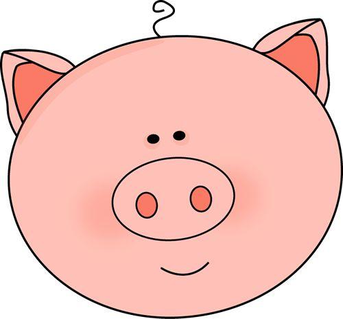 500x465 Pig Clipart Vector
