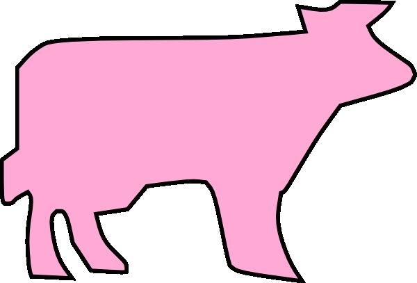 600x407 Cow Outline Clip Art