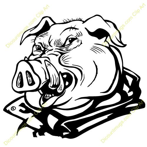 500x500 Mean Pig Clipart