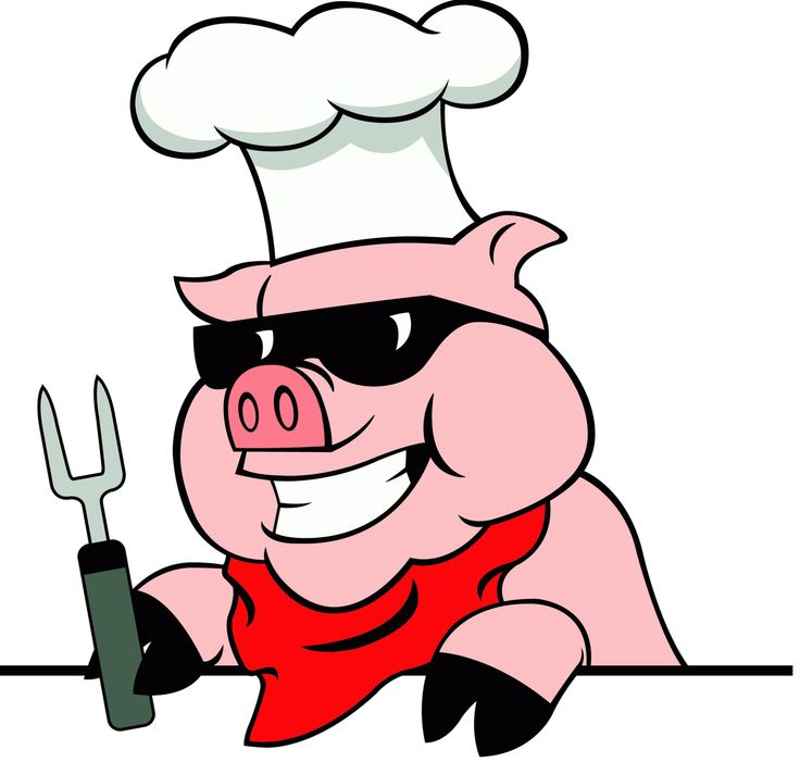 736x701 Pig Roast Clipart
