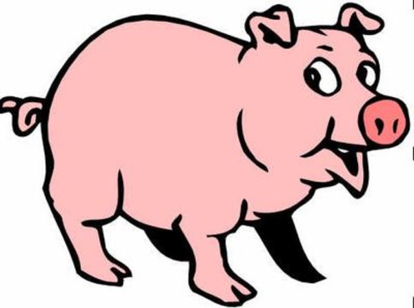 600x447 Pigs Cartoon Pig Clipart