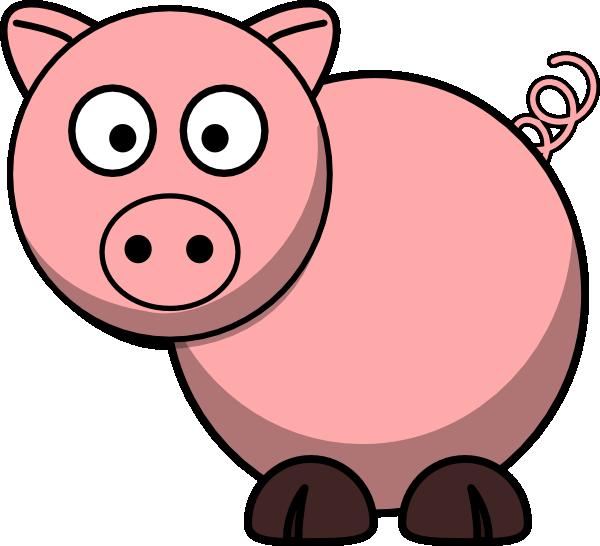 600x546 Vector Clipart Pig