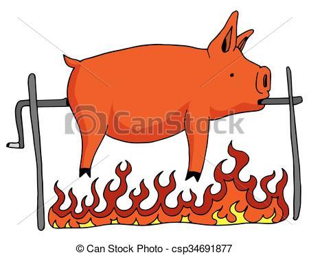 450x372 Pork Clipart Roasted Pig