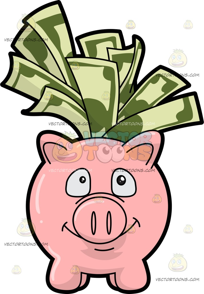 712x1024 A Piggy Bank Filled With Dollar Bills Pink Piggy Bank And Piggy