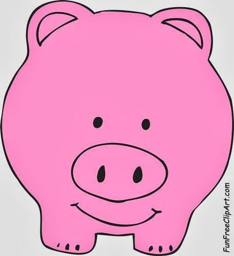 457x500 Cute Pig Clipart
