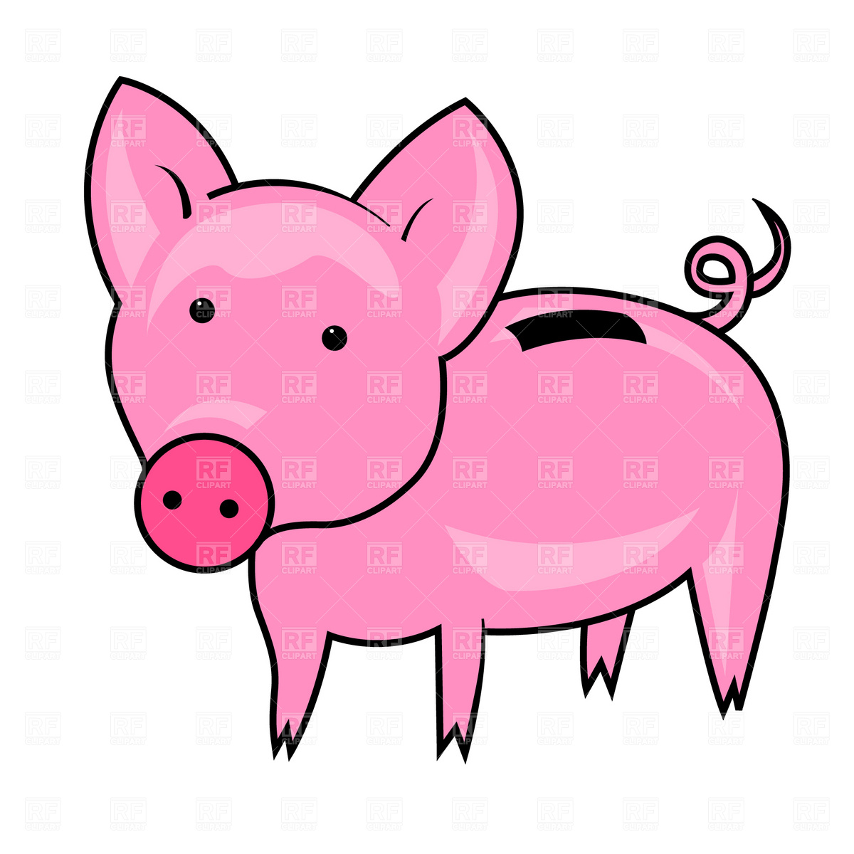 1200x1200 Funny Piggy Bank Royalty Free Vector Clip Art Image
