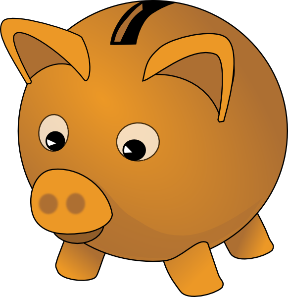 582x599 Piggy Bank Clip Art