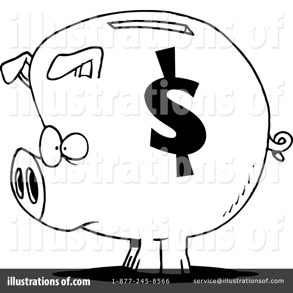 1024x1024 Piggy Bank Clipart