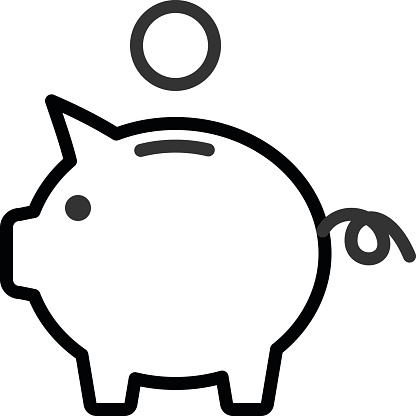 416x416 Piggy Bank Clipart Outline Clipartfest Car