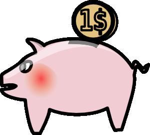 300x269 Piggybank Clip Art