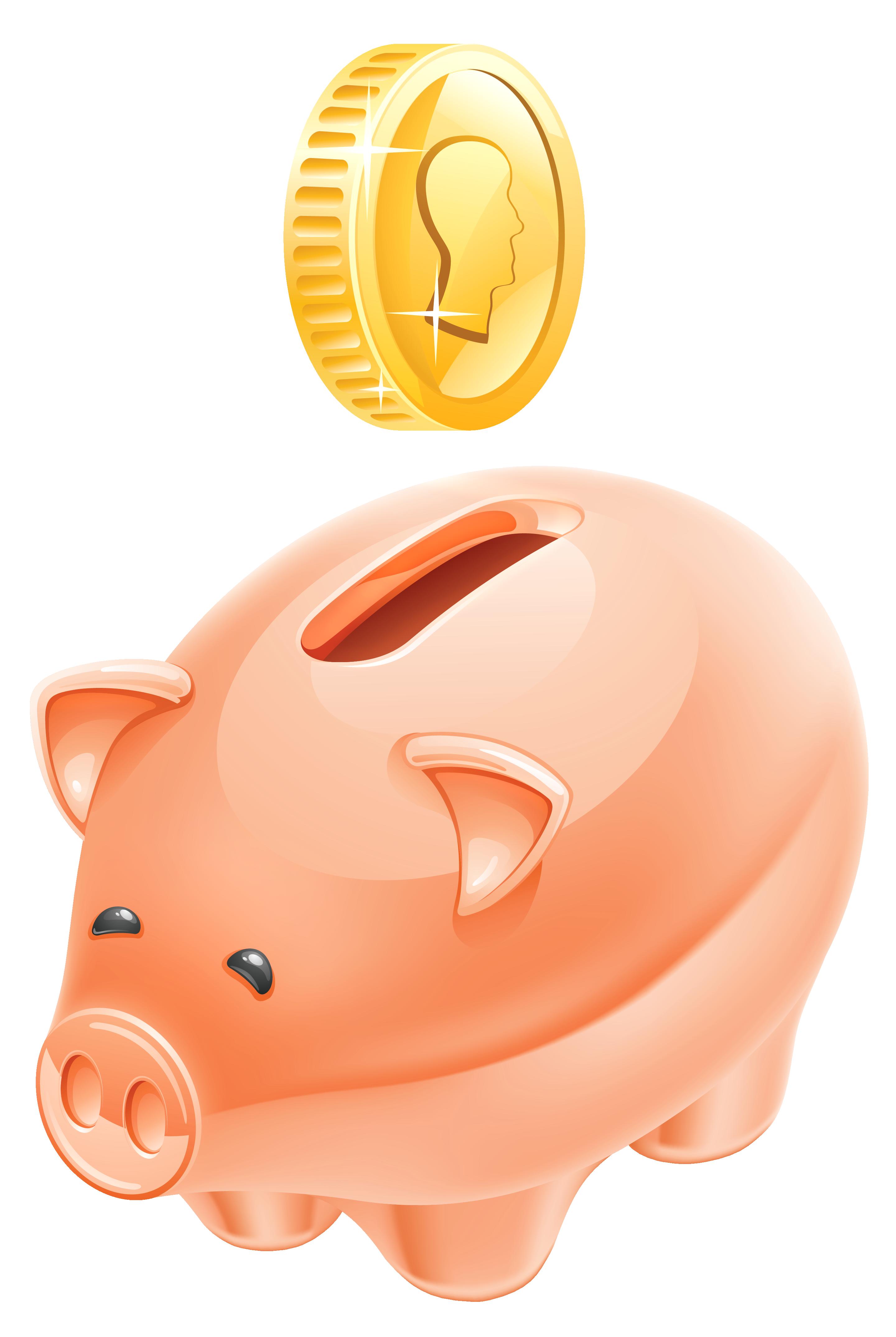 2880x4297 Piggy Bank Clipart Picture