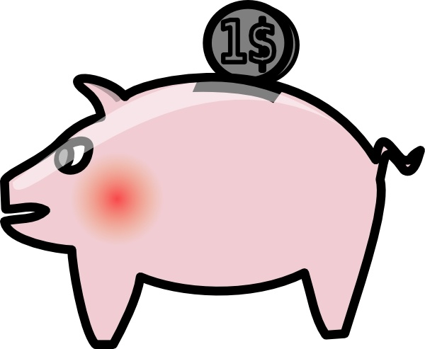 600x493 Piggybank Clip Art Free Vector In Open Office Drawing Svg ( Svg