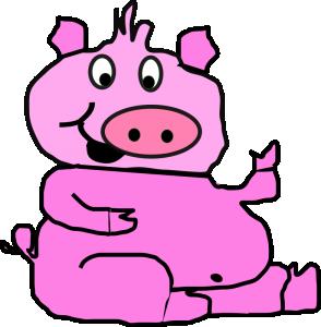 294x300 Pig Cartoon Clip Art Download