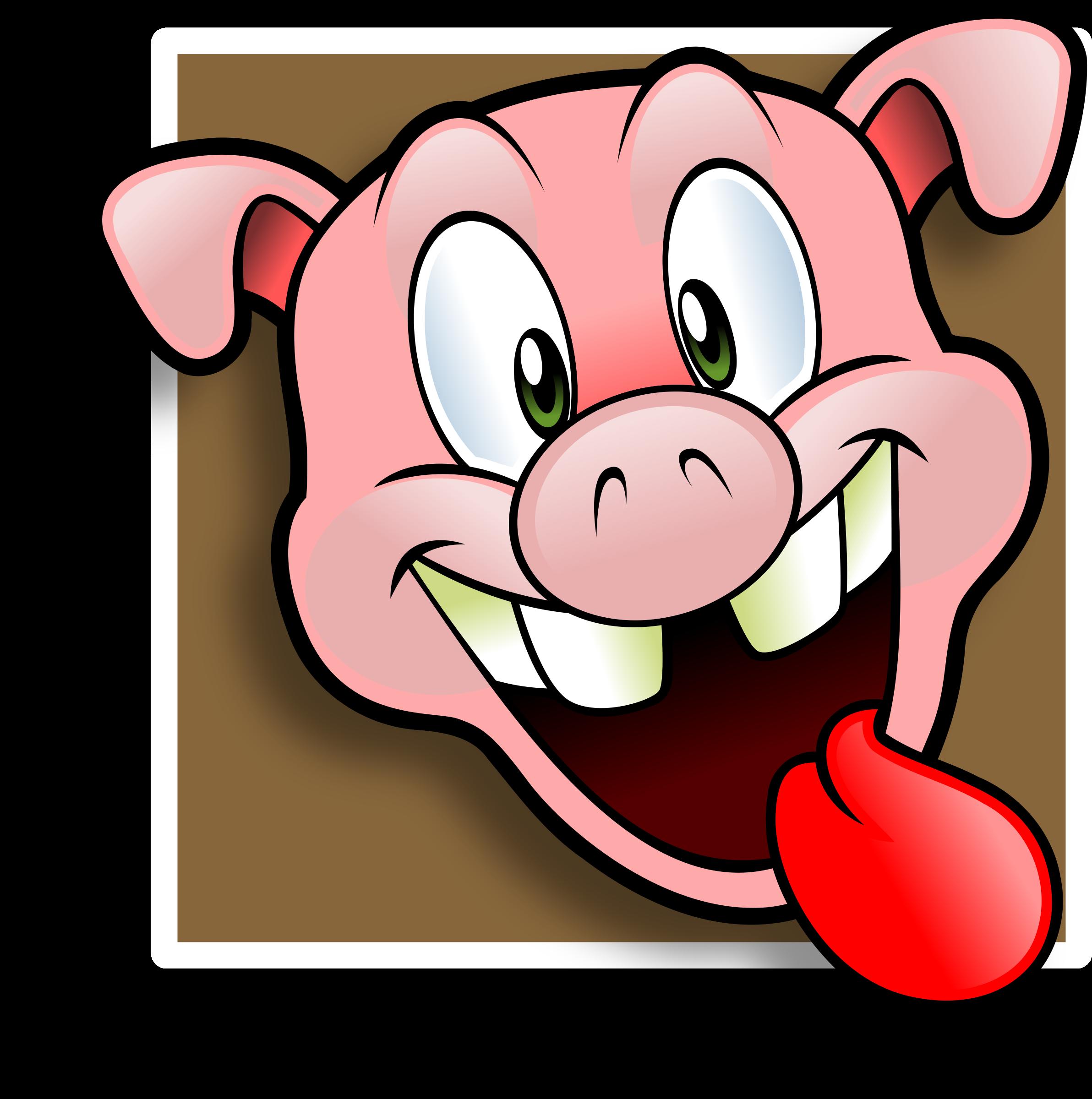 2384x2400 Pig Clipart Happy Pig